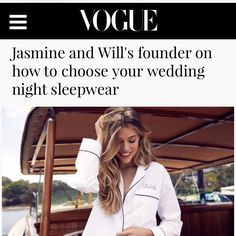 Personalise your wedding day with Jasmine and Will Sleepwear and wedding robes