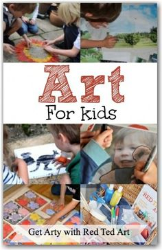 Get children learning about art and making their own artistic creations with Red Ted Art