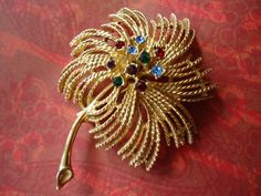 Vintage Sarah Coventry Flower Rhinestone by SilverDoveCompany, $14.00
