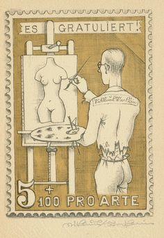 1949 Direktoren- Konferenz PTT, aus Geschenkheft , mit 12 Original -Zeichnungen