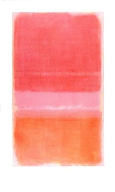 pinks & oranges | mark rothko, no 37 (red)