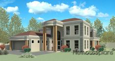 Beautiful 5 Bedroom House Plans With Photos NethouseplansNethouseplans 6 Bedroom House Plans, 4 Bedroom House Designs, Garage House Plans, Double Storey House Plans, Built In Braai, Modern House Floor Plans, Bali House, Architectural House Plans, House Plans With Photos
