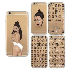 Smile Ugly Cute Face Kimoji Silicone Case For Iphone 5S 6 6S 7 Plus Tpu  Cover af30edf13c62