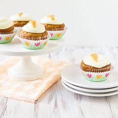 Tropical Carrot Cake Cupcakes