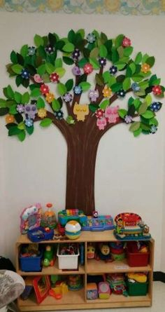 Christmas Tree Decorations Ribbon, Butterfly Decorations, Tree Crafts, Diy And Crafts, Crafts For Kids, Classroom Tree, Classroom Decor, Preschool Classroom, Owl Tree