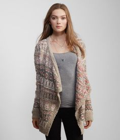 Curl up inside with our Patterned Cascade Drape Cardigan