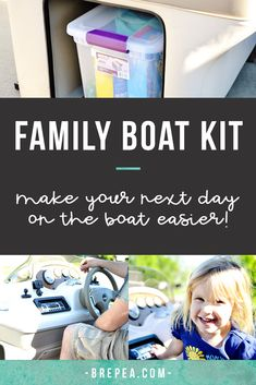 Don't plan a day out on the pontoon boating without putting together this family boat kit! We keep ours fully stocked for the summer in a waterproof container. This kit is perfect if you have kids, in an emergency, or even when you need first aid. Make yo Buy A Boat, Make A Boat, Build Your Own Boat, Boating Tips, Pontoon Boating, Pontoon Boat Party, Boating Fun, Pontoon Boat Accessories, Boating Accessories