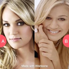Favorite Idol star...Carrie Underwood or Kelly Clarkson? Click here to vote @ http://getwishboneapp.com/share/624152