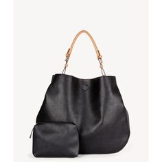 Sole Society Capri Oversize Shoulder With Pouch ($65) ❤ liked on Polyvore featuring bags, handbags, shoulder bags, black, sole society tote, faux leather tote, structured faux leather tote, vegan leather tote bag and faux leather tote bag
