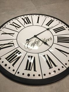 French enameled industrial tower clock