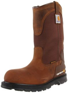 "Carhartt Men's Work Boot Safety Toe Waterproof 11"" Wellington Pull On - CMP1200 Bison"