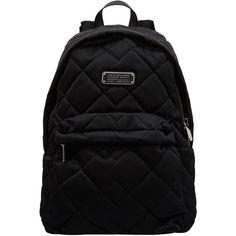 Marc by Marc Jacobs Black Crosby Quilted Backpack found on Polyvore