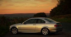 Car, Sunset, BMW E46 Coupe
