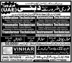 Calibration Technician Dubai Jobs.Calibration Technician , Automation Technician, Pneumatic Technician, Electronics Technician,