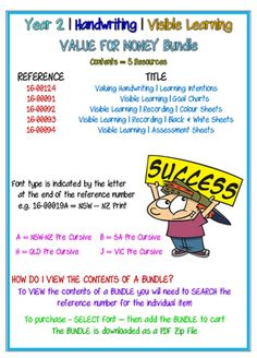 The Visible Learning Bundle focuses upon the formative assessment process. Students use the resources to self-evaluate their handwriting for legibility. Visible Learning, Goal Charts, Success Criteria, Learning Goals, Letter Formation, Formative Assessment, Handwriting Practice, Classroom Management, Teaching Resources