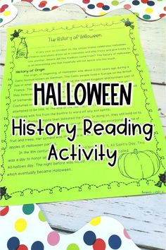 Celebrate Halloween in your upper elementary classroom with this Halloween reading activity about the origins of the holiday! Your 4th, 5th, and 6th grade students will love reading about the spooky history of Halloween and completing a fun Halloween writing activity on pumpkin paper about their favorite Halloween tradition. This is a perfect way to connect with your upper elementary students this fall, whether in the classroom or distance learning!
