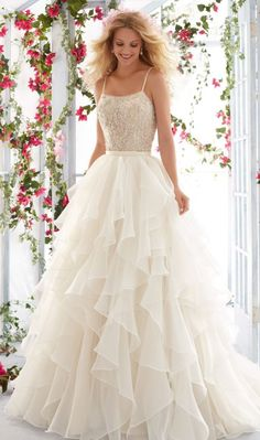 Wonderful Perfect Wedding Dress For The Bride Ideas. Ineffable Perfect Wedding Dress For The Bride Ideas. Mori Lee Wedding Dress, Bridal Wedding Dresses, Wedding Dress Styles, Dream Wedding Dresses, Designer Wedding Dresses, Wedding Pics, Lace Wedding, Wedding Ideas, Organza Bridal