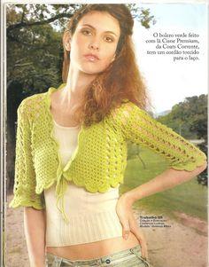As Receitas de Crochê: Vários boleros em crochê