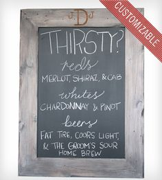 Custom Driftwood Framed Chalkboard | Home Decor | Host & Toast | Scoutmob Shoppe | Product Detail