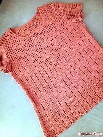 Fabulous Crochet a Little Black Crochet Dress Ideas. Georgeous Crochet a Little Black Crochet Dress Ideas. Gilet Crochet, Crochet Vest Pattern, Crochet Square Patterns, Form Crochet, Crochet Blouse, Cute Crochet, Beautiful Crochet, Crochet Designs, Knit Crochet