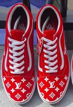 cd6c8546270ce0 Supreme x LV insipired Vans Old Skool Custom sneakers (any size)