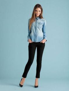 Wear it at night. A denim shirt—so sharp buttoned up and paired with skinnies and heels.