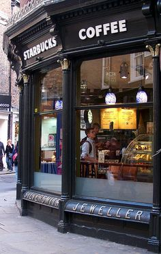Starbucks in New York. I absolute love Starbucks, and would love to go here!(: