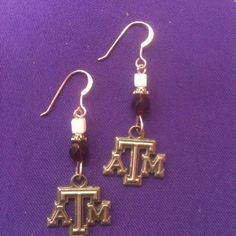 Licensed Collegiate Earrings  Texas A & M by AnnPedenJewelry, $14.99