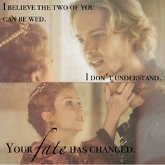 Queen Catherine (Megan Follows) and Francis (Toby Regbo) in Reign on the CW