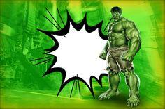Hulk Free Printable Invitations.