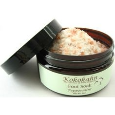 Peppermint Foot Soak ~ with himalayan pink salts and pure peppermint essential oil.  Your feet will love you! $12.95