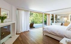 Light airy bedroom Pamela Anderson's Malibu Beach House listing