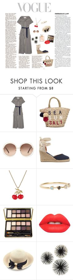 """Hangout In The Park"" by jz20 ❤ liked on Polyvore featuring Solid & Striped, Sundry, Chloé, Soludos, Kenneth Jay Lane, WWAKE, Bella Il Fiore and Lime Crime"