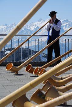 Swiss culture: Alphorn in action on mount Pilatus #bestofswitzerland