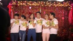 """These are James Reid, Nadine Lustre, Kathryn Bernardo, Daniel Padilla, Liza Soberano, and Enrique Gil singing """"Nana nanana nanana Thank you, thank you for the love"""" and smiling for the camera during the taping and recording of the 2015 ABS-CBN Christmas Station ID, """"Thank You for the Love!"""" #JamesReid #NadineLustre #JaDine #KathrynBernardo #DanielPadilla #KathNiel #KathNIelBernaDilla #LizaSoberano #AteHopie #EnriqueGil #LizQuen #ThankYoufortheLove #ABSCBNChristmasStationID Inigo Pascual, Half Filipino, Daniel Johns, Enrique Gil, Daniel Padilla, Star Magic, Liza Soberano, James Reid, Kathryn Bernardo"""