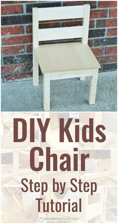 DIY Kids Chair – How To Build A Kids Chair For Beginners - Follow this step by step tutorial to make a basic children's chair.