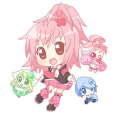 Amu, Ran, Miki, and Su from Shugo Chara~!