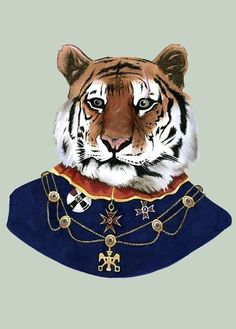This stately tiger has seen a battle or two in his time. He is well decorated, his ranking is General, and, believe it or not, he's a pretty nice guy. He is quite a good luck charm if you bring him along to your board game party.