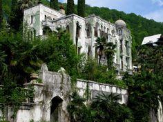 the Ghost Town of Gagra, Georgia (Abkhazia), Russia