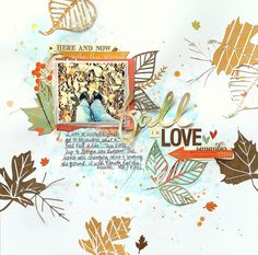 My Scraps & More DT Project featuring the Autumn Day collection from PhotoPlay Paper Company; leaves created from the Leaf it to Me cut file from The Cut Shoppe.