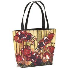 Tiffany Poppies Tote Bag