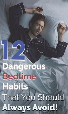 Dangerous Bedtime Habits You Have to Avoid