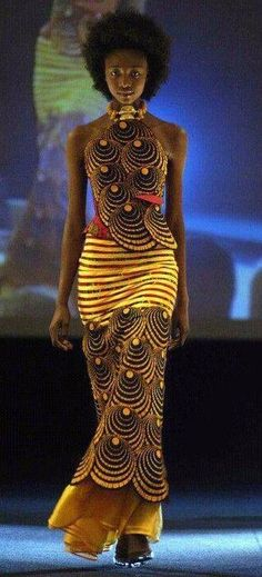 Moda africana: - New Ideas African Inspired Fashion, African Print Fashion, Africa Fashion, Ethnic Fashion, Look Fashion, Fashion Design, African Prints, Fashion Ideas, Fashion Outfits