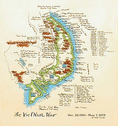 handwritten map of vietnam war