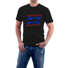 Flag Shirt, T Shirt, Union Jack, New Shoes, Types Of Sleeves, Crew Neck, Brand New, Hoodies, Tees