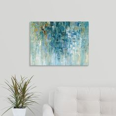 "GreatBigCanvas ""I Love The Rain"" by Nan F Canvas Wall Art, Multi-Color"