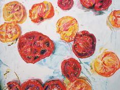 "Slow-Roasted Tomatoes $24.00 8""x10"" Pen & Palate"