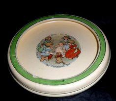 Antique Roseville Baby Plate Feeding Dish Bowl Era 1925 Nursery Rhyme Plate Jack | eBay