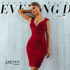 New Women Summer Red Bodycon Bandage Dress Sexy V-Neck Sexy Dresses, Formal Dresses, Go Red, New Woman, Summer, Women, Fashion, Dresses For Formal, Moda