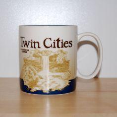 Starbucks Coffee Twin Cities Global Icon Collector Series 2009 Mug 16 oz 473 mL  #StarbucksCoffeeCompany